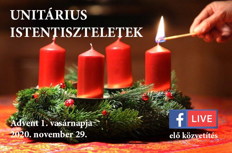 Online istentiszteletek Advent 1. vasárnapja