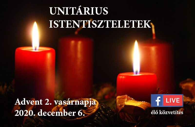 Online istentiszteletek Advent 2. vasárnapja