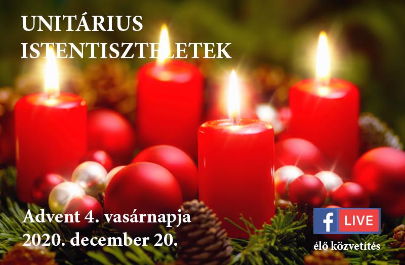 Online istentiszteletek Advent 4. vasárnapja