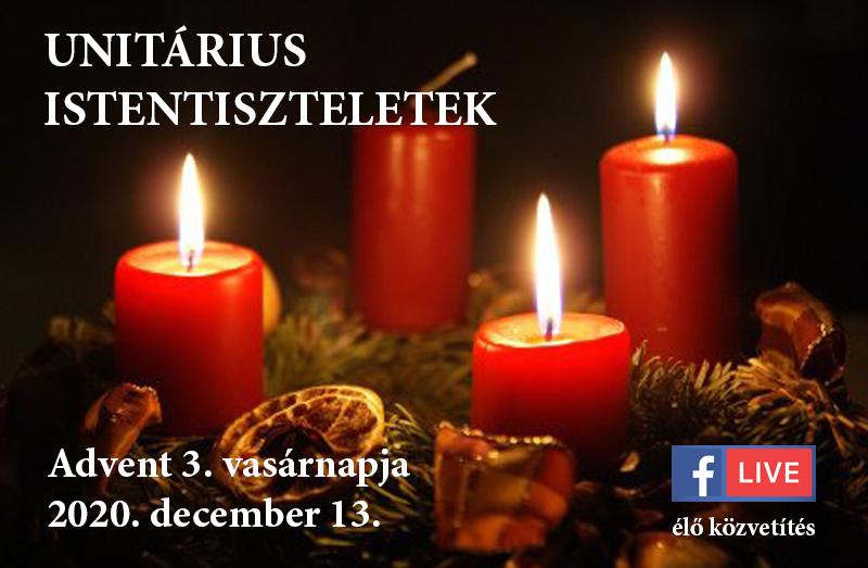 Online istentiszteletek Advent 3. vasárnapja